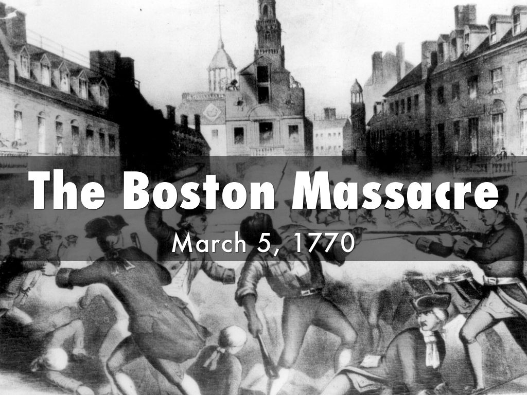what happened on march 5 1770