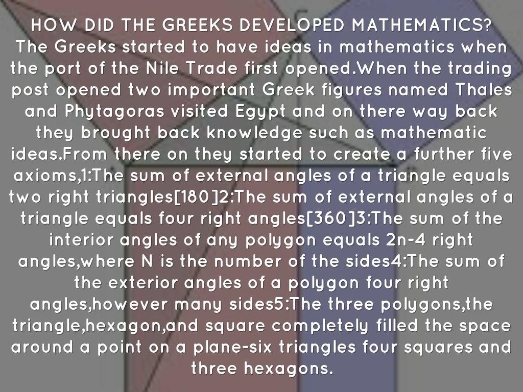mathmatics in ancient greece Compre mathematics in ancient greece (dover books on mathematics) de tobias dantzig na amazoncombr confira também os ebooks mais vendidos, lançamentos e livros digitais exclusivos.