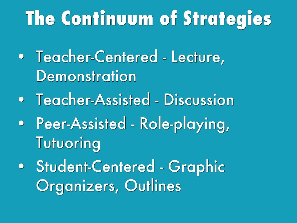 continuum strategies The content literacy continuum: a framework for improving adolescent literacy by: keith lenz, , and donald d deshler the content literacy continuum (clc) is a tool for enabling teachers and administrators to evaluate literacy instruction/services offered within a school and to formulate a plan for improving the quality of those.