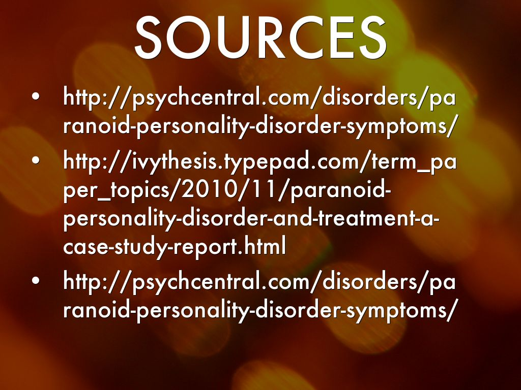 paranoid personality disorder case study