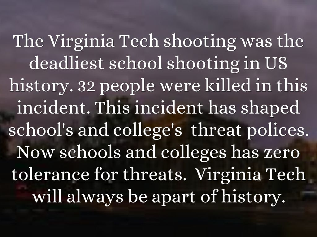 the lessons and precautions learned from the virginia tech shooting Lessons learned from columbine, virginia tech and sandy hook clifton police lt paul hasselberger discusses what law enforcement has learned after the mass shootings at columbine, virginia tech and sandy hook.