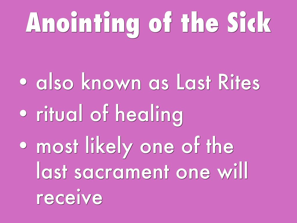 anointing of the sick sacrament paper