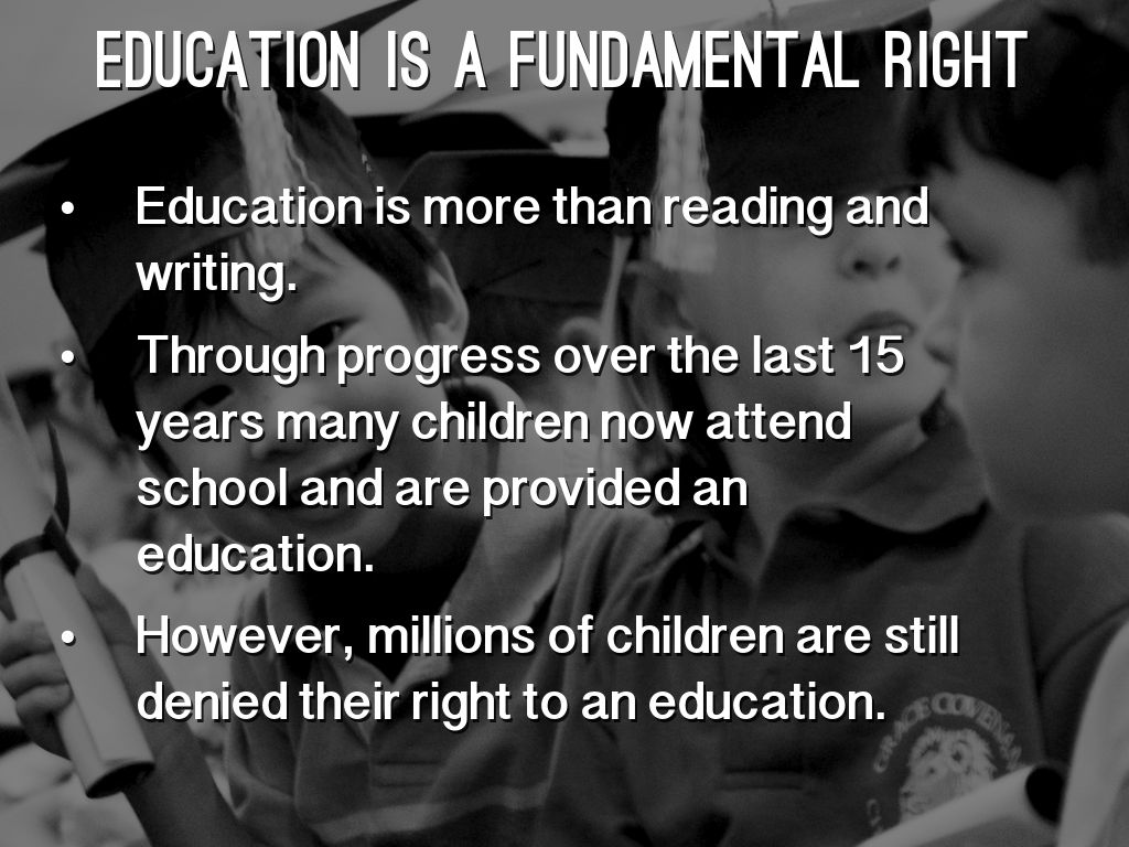 conclusion of right to education