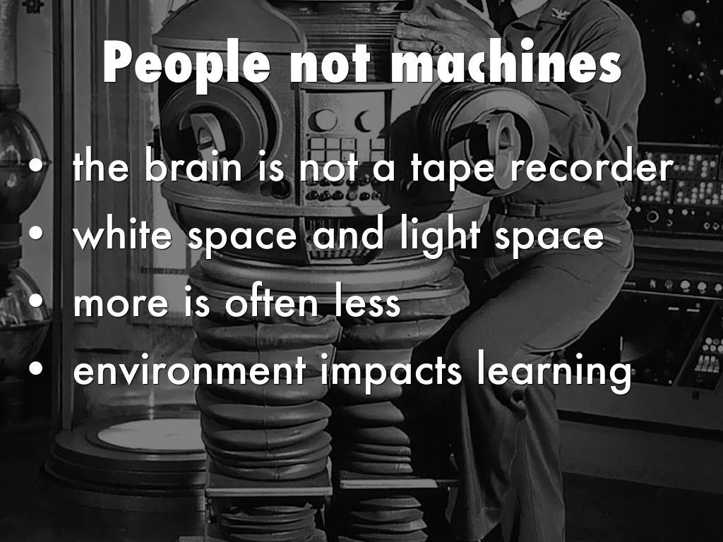 People not machines