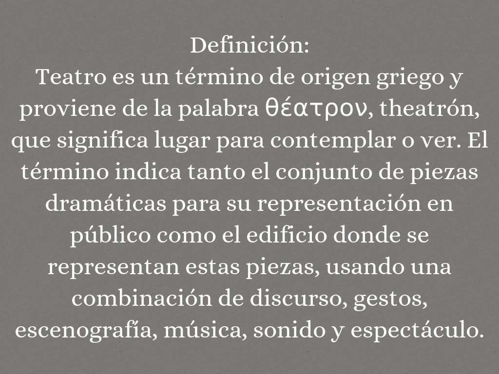 Definiciones literarias by merrii carmona for Definicion de espectaculo