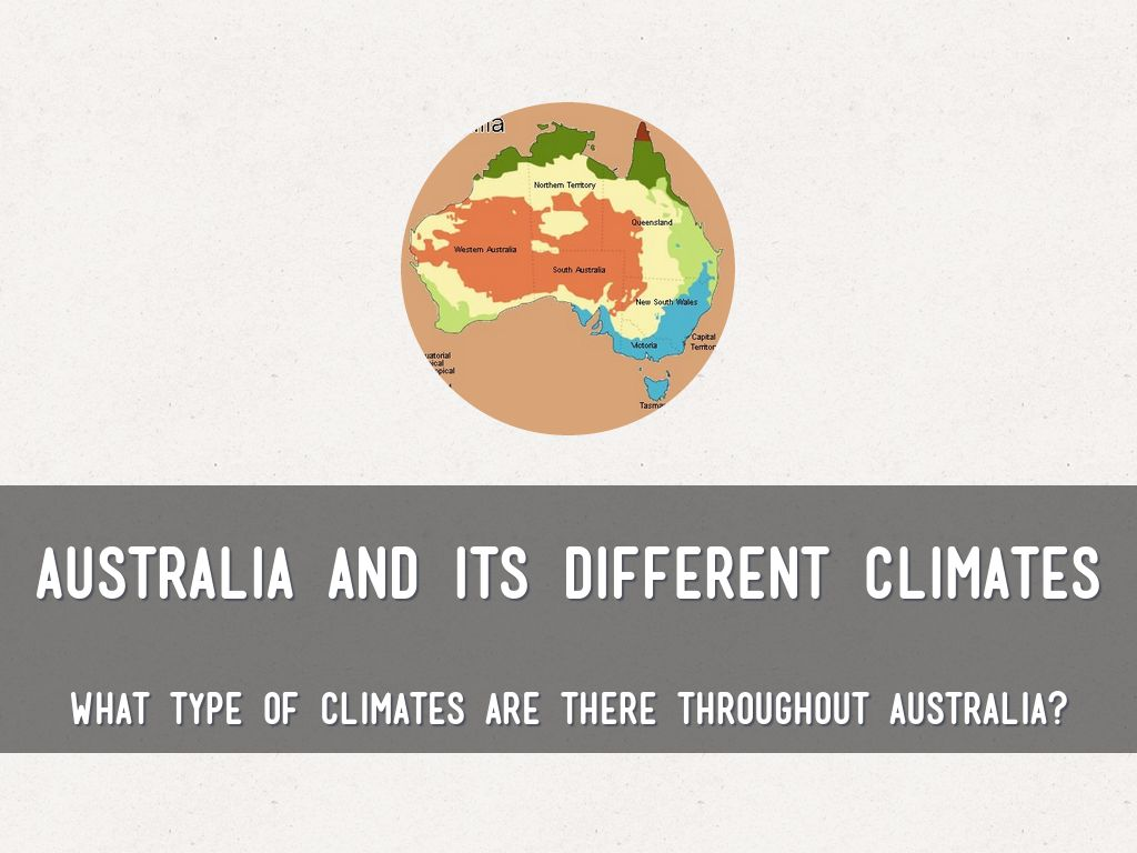 Australia and its different climates by mrs davies australia and its different climates pooptronica