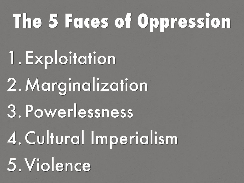 essay on that six people associated with oppression