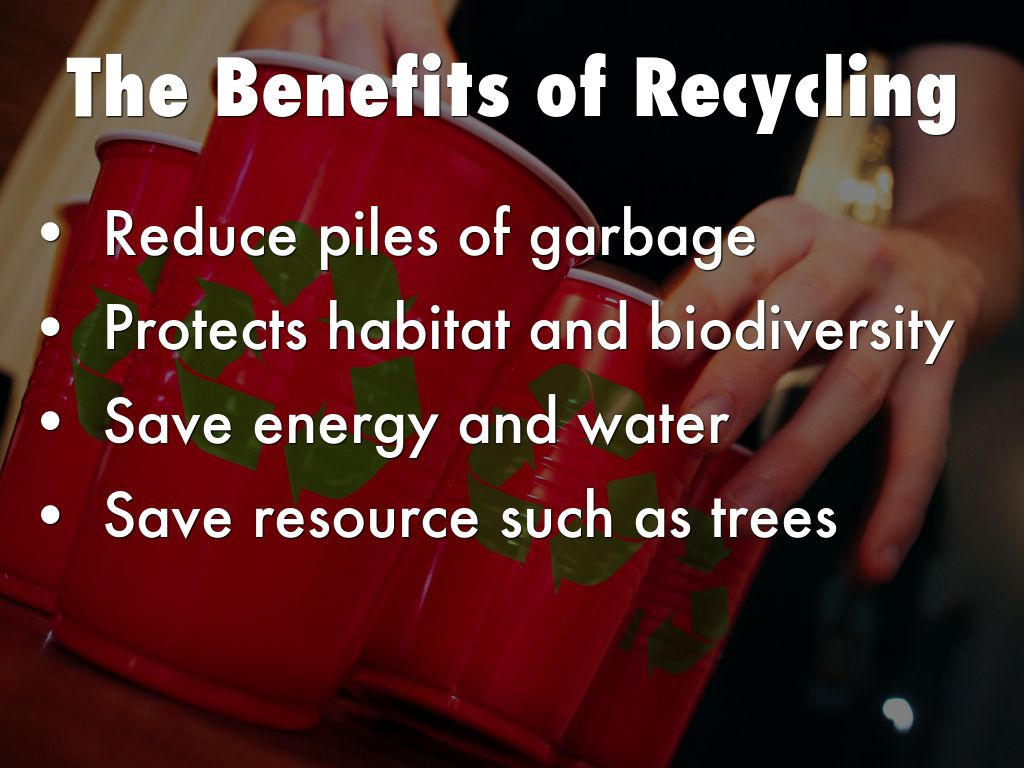 the benefits of recycling As cities move beyond recycling paper and metals, and into glass, food scraps and assorted plastics, the costs rise sharply while the environmental benefits decline and sometimes vanish.