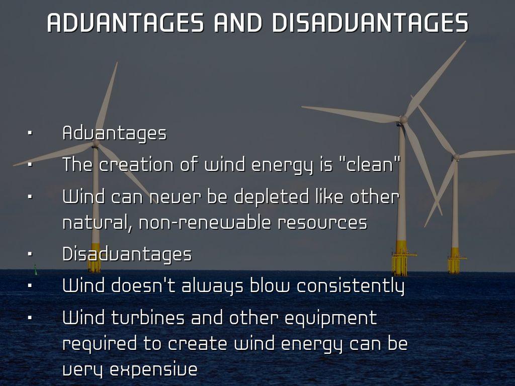 disadvantages of wind turbines