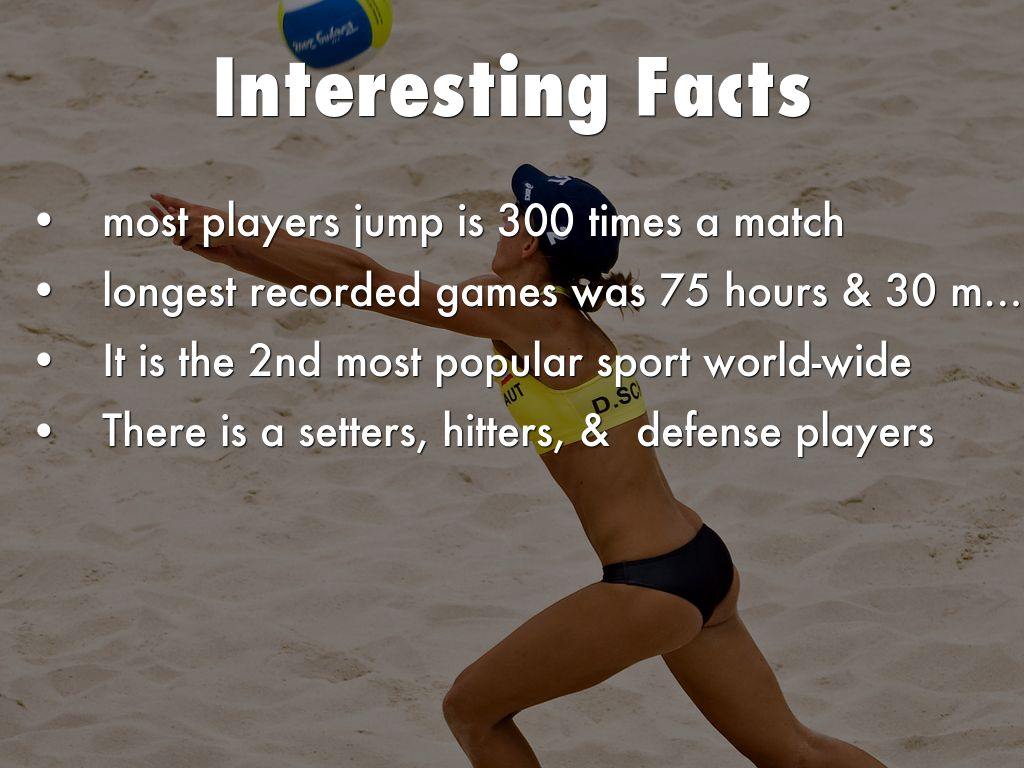 Facts About Volleyball Docsity