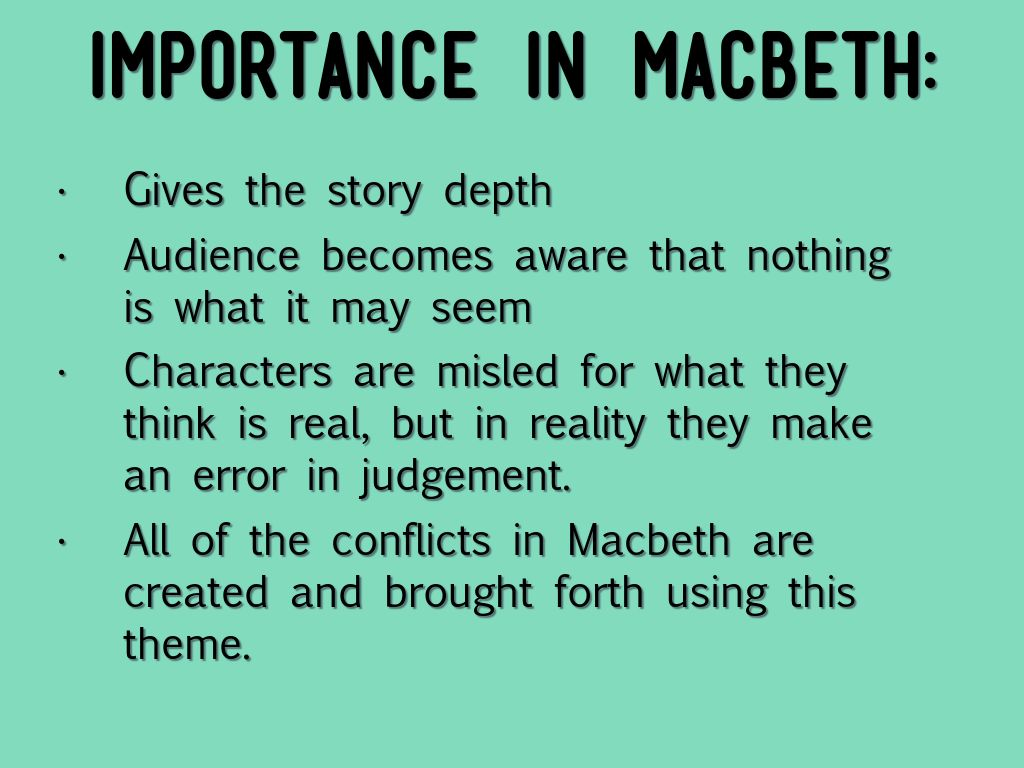 the theme of fair is foul and foul is fair in shakespeares macbeth The theme of 'fair is foul, foul is fair' permeates throughout the play 'macbeth' explain what it means, providing examples from the play to support your.