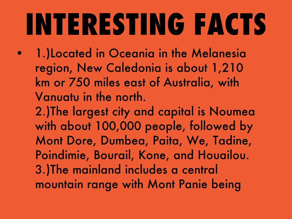Information About >> New Caledonia Project by Dan Walklett