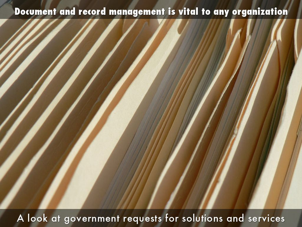 Government Requests for Document & Record Management Solutions and Services
