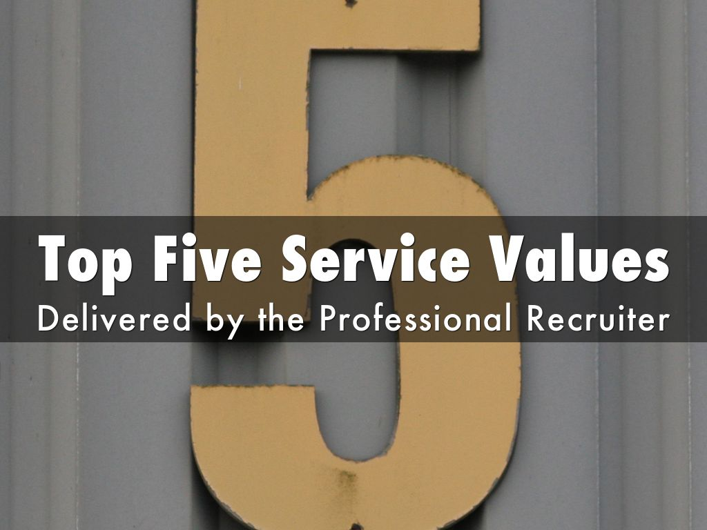 Copy of Top Five Service Values of a Recruiter