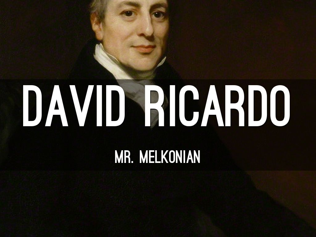 david ricardo David ricardo made one vital contribution to economic thought and to the case for freedom of trade: the law of comparative advantage.