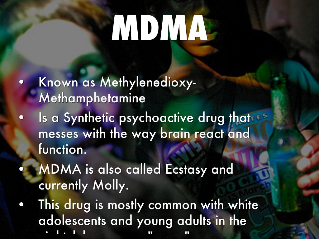 a study on the substance abuse of methylenedioxy methamphetamine mdma or molly Widely known as mdma or molly  what is ecstasy abuse the official acronym for 3,4-methylenedioxy-methamphetamine.