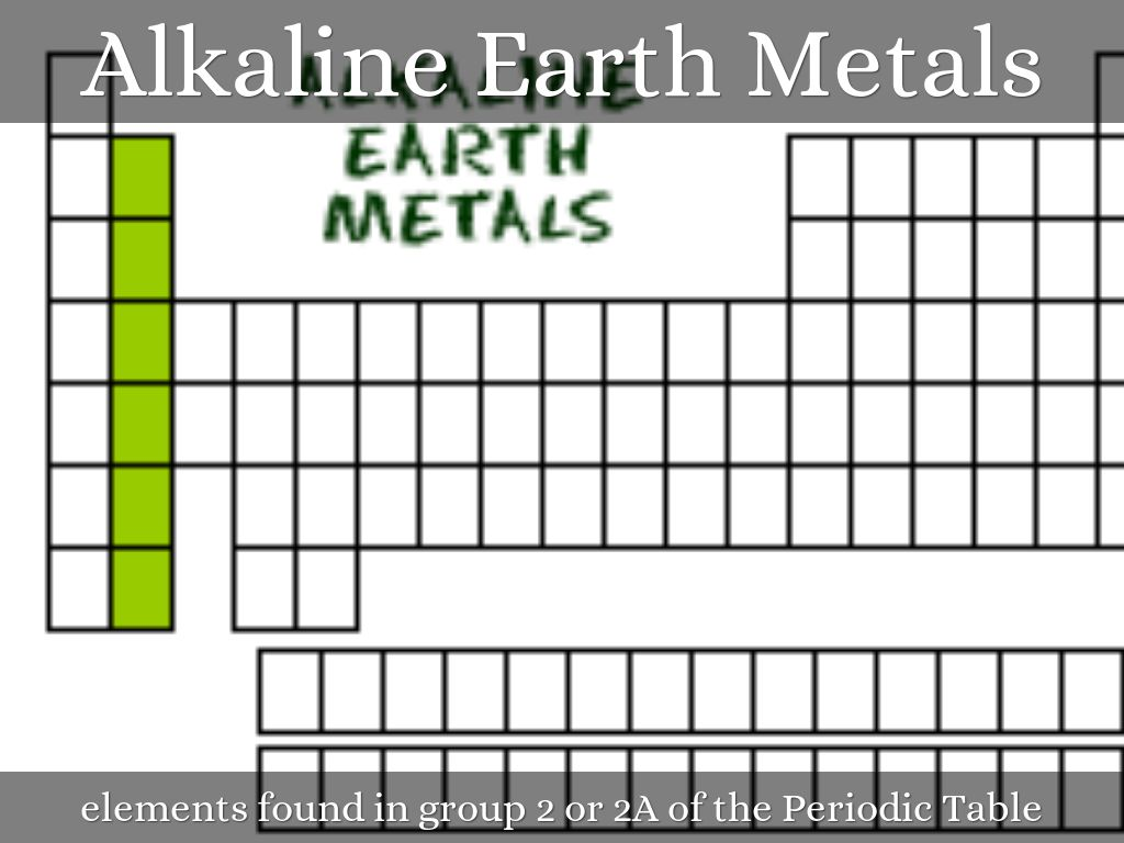 Vocab of the week by 1315032483 alkaline earth metals elements found in group 2 or 2a of the periodic table gamestrikefo Image collections