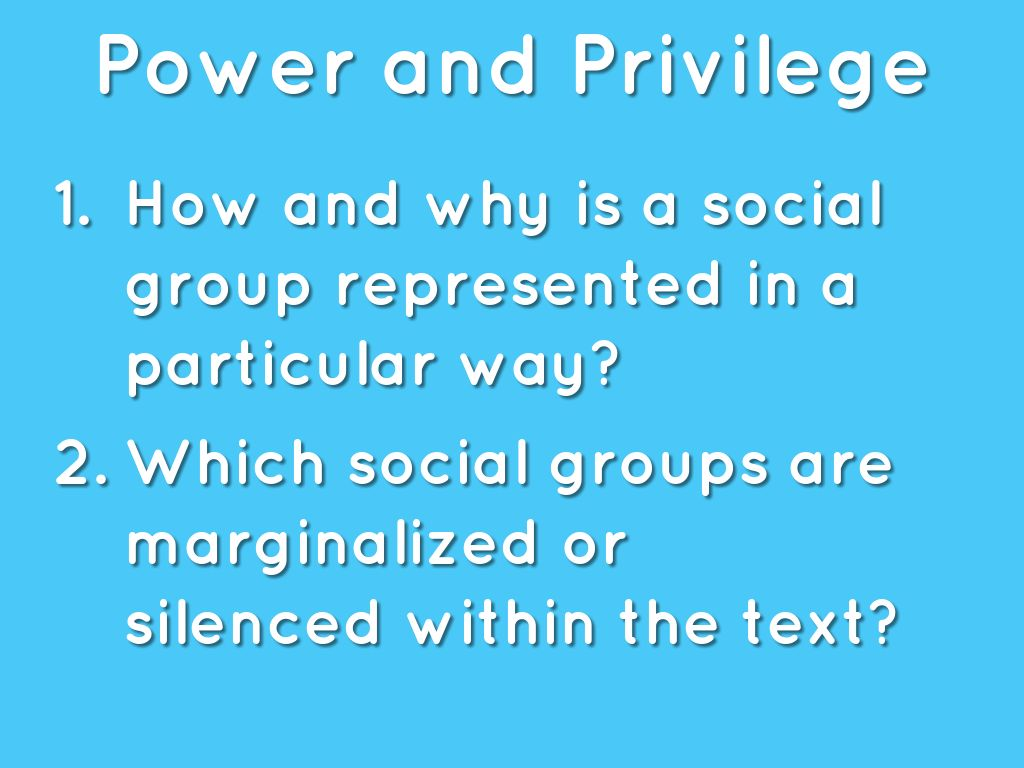 which social groups are marginalized within