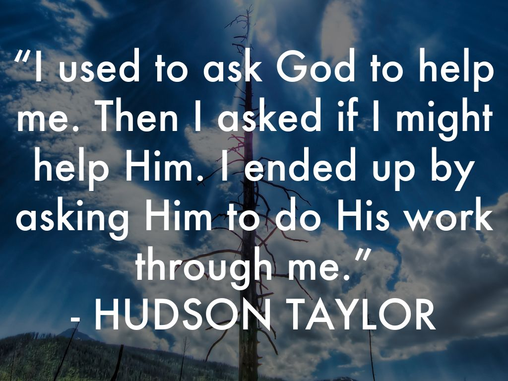 i used to ask god to help me. then i asked if i might