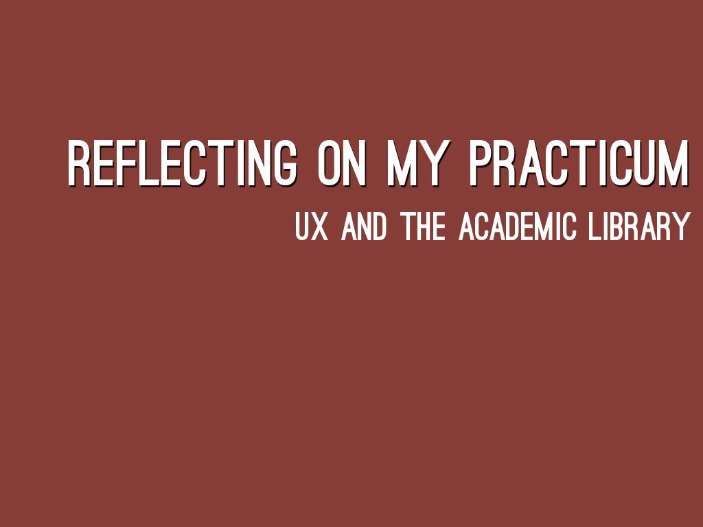 UX and Academic Libraries