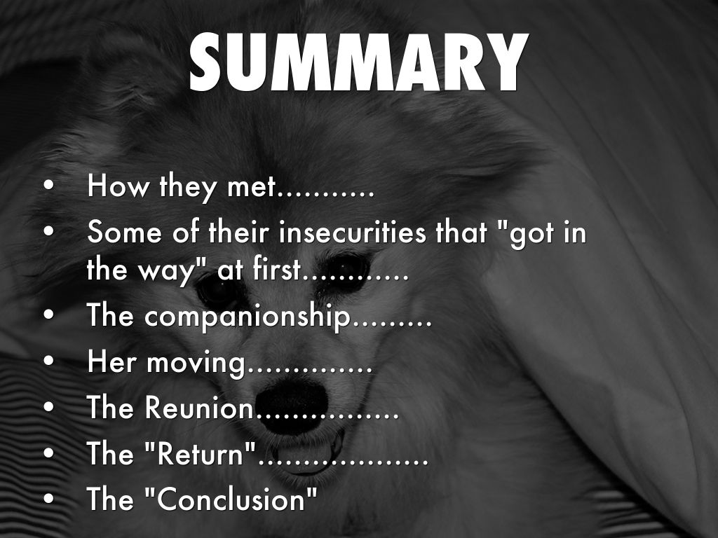 The lady with the dog: a summary of the story of Chekhov 39