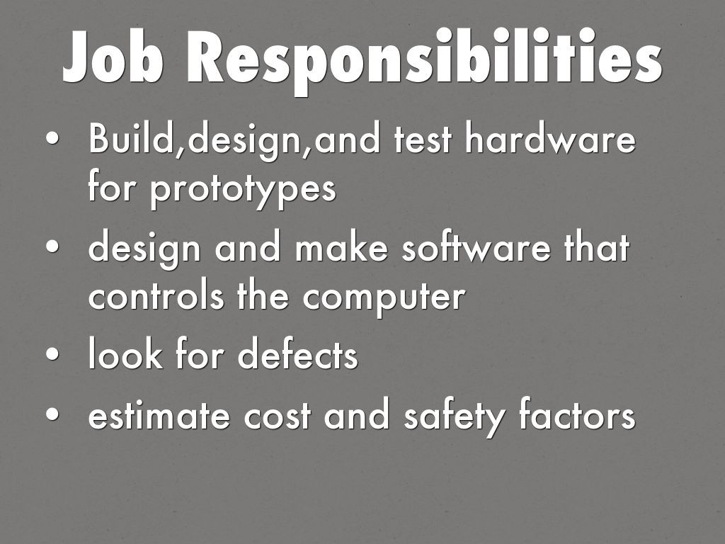 job responsibilities computer engineering responsibilities - Computer Engineering Responsibilities