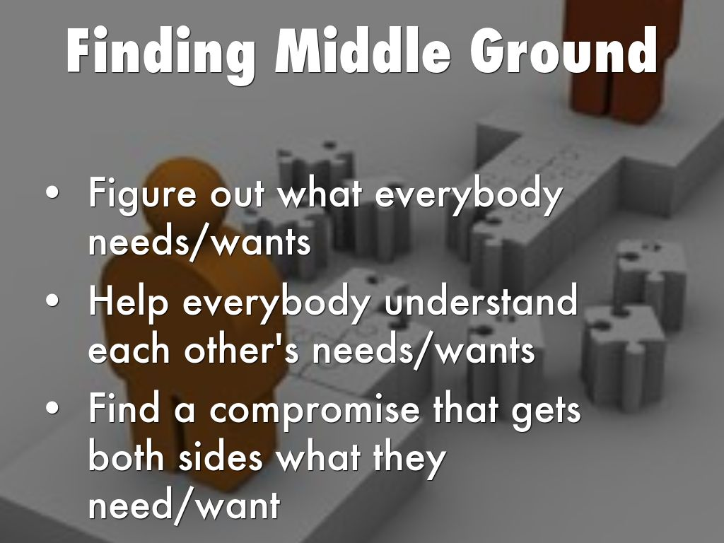 Image result for finding a middle ground