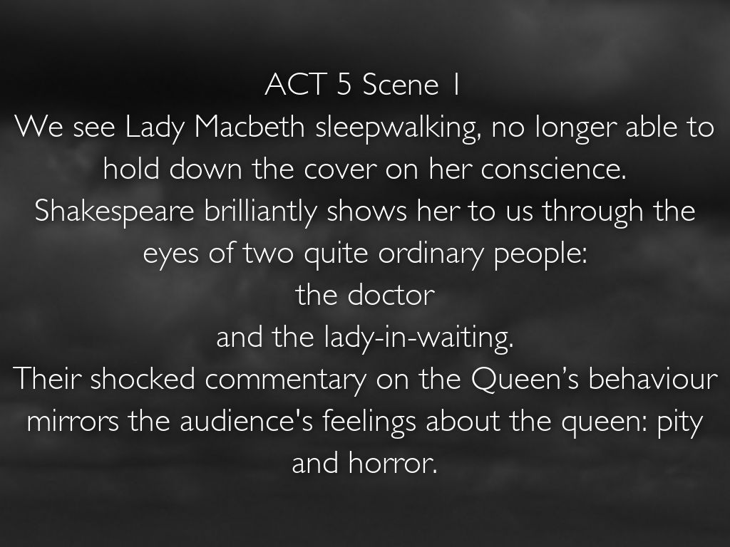 lady macbeth commentary From this statement, lady macduff characterizes the condition of women to be weak and powerless against ruthless forces and his additionally provides commentary on the backward state of scotland, as the innocent are being killed.