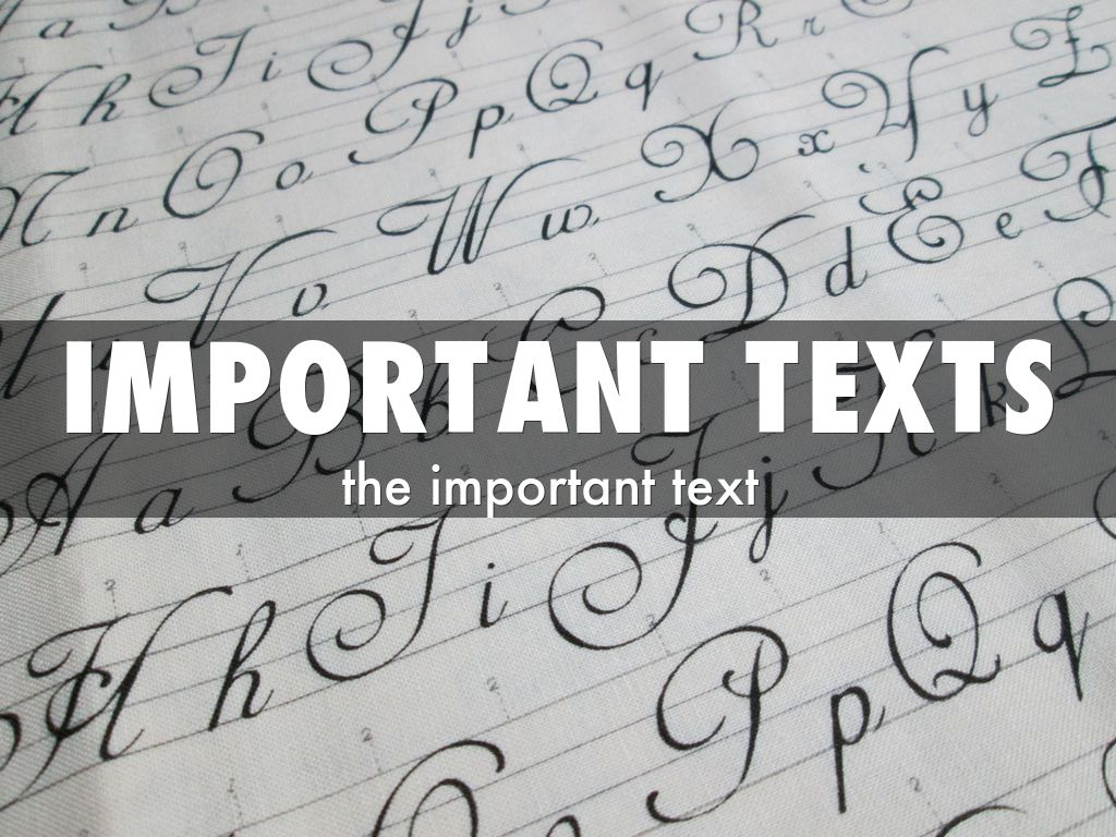 important texts The importance of teaching text structure lesson plans has students that struggle with grade level text part of the structure is necessary and important.