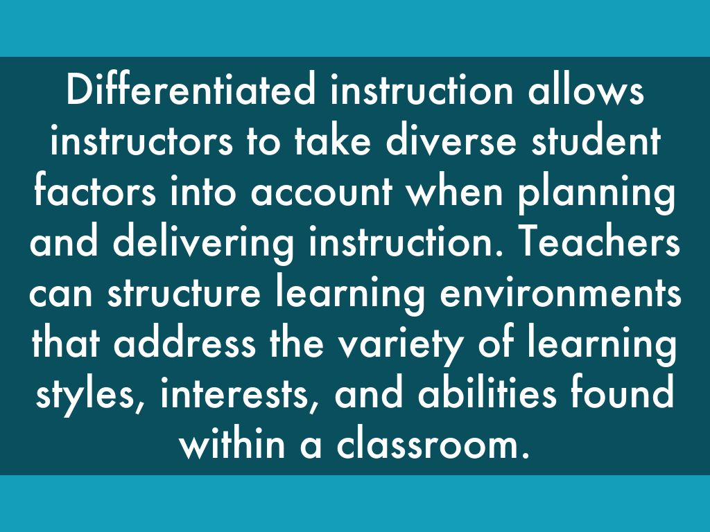 Differentiated Instruction By Chris Williams