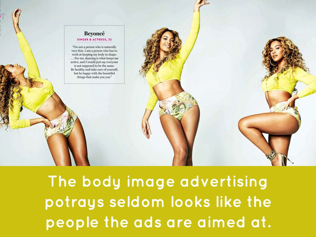 female body advertising