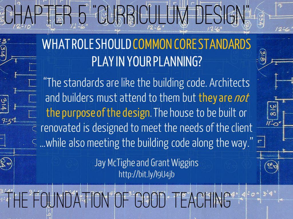 "Chapter 5 ""Curriculum Design"""