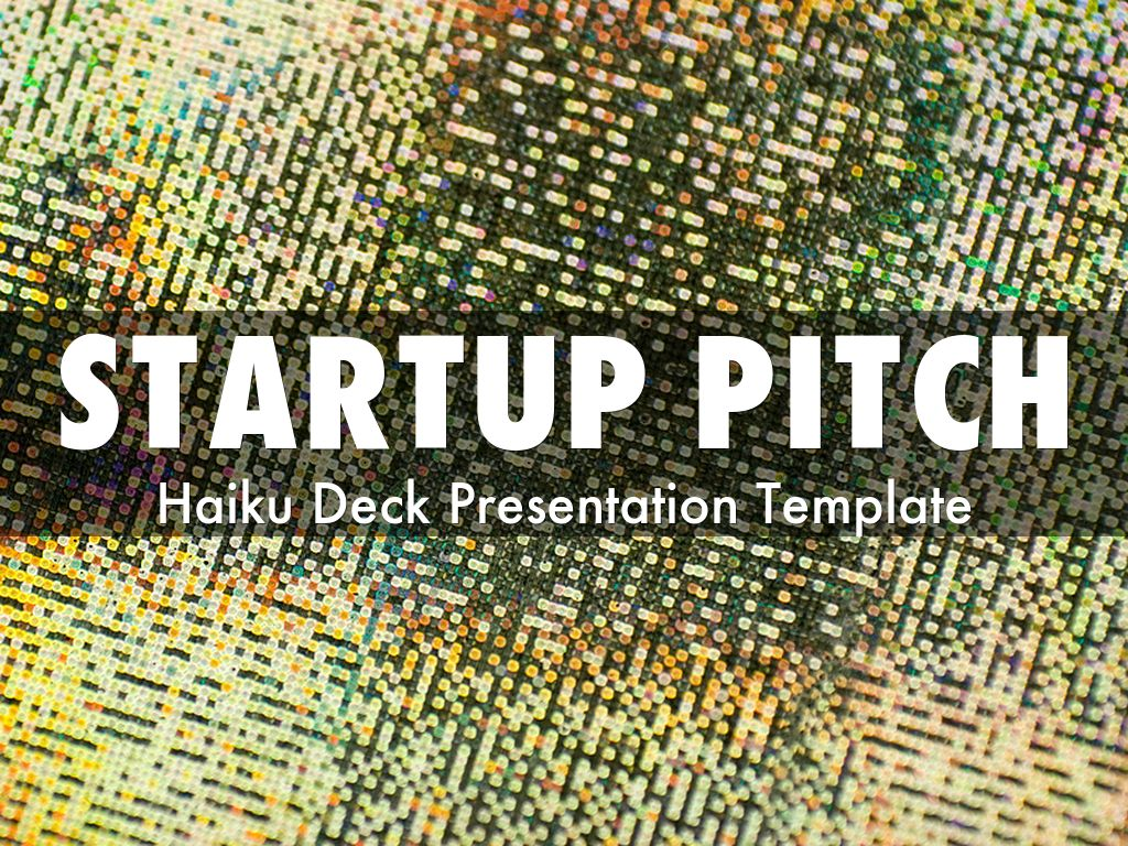 startup pitch presentation template by catherine carr. Black Bedroom Furniture Sets. Home Design Ideas