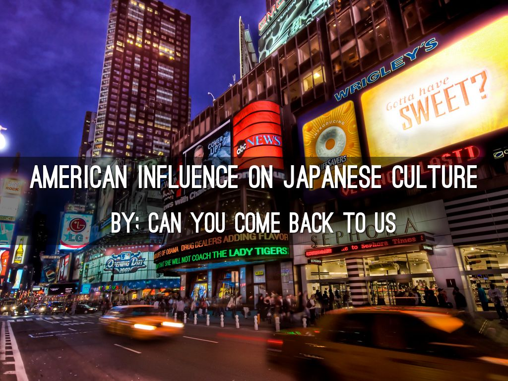 copy of american influence on japanese culture by
