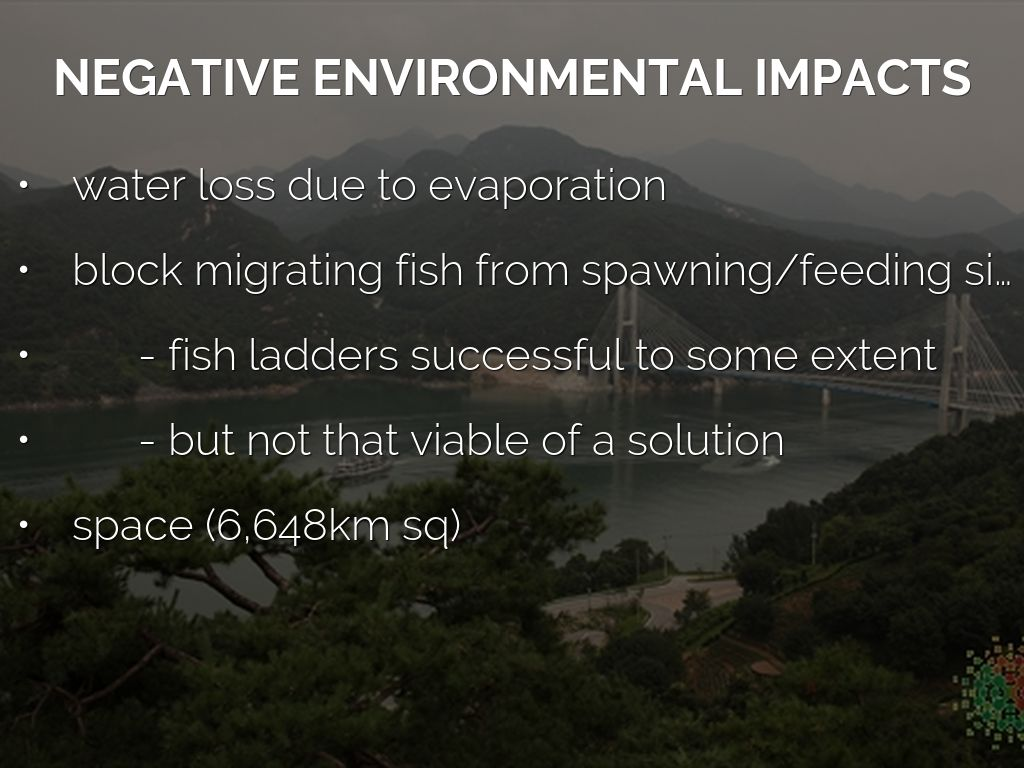 negative impacts on our environment