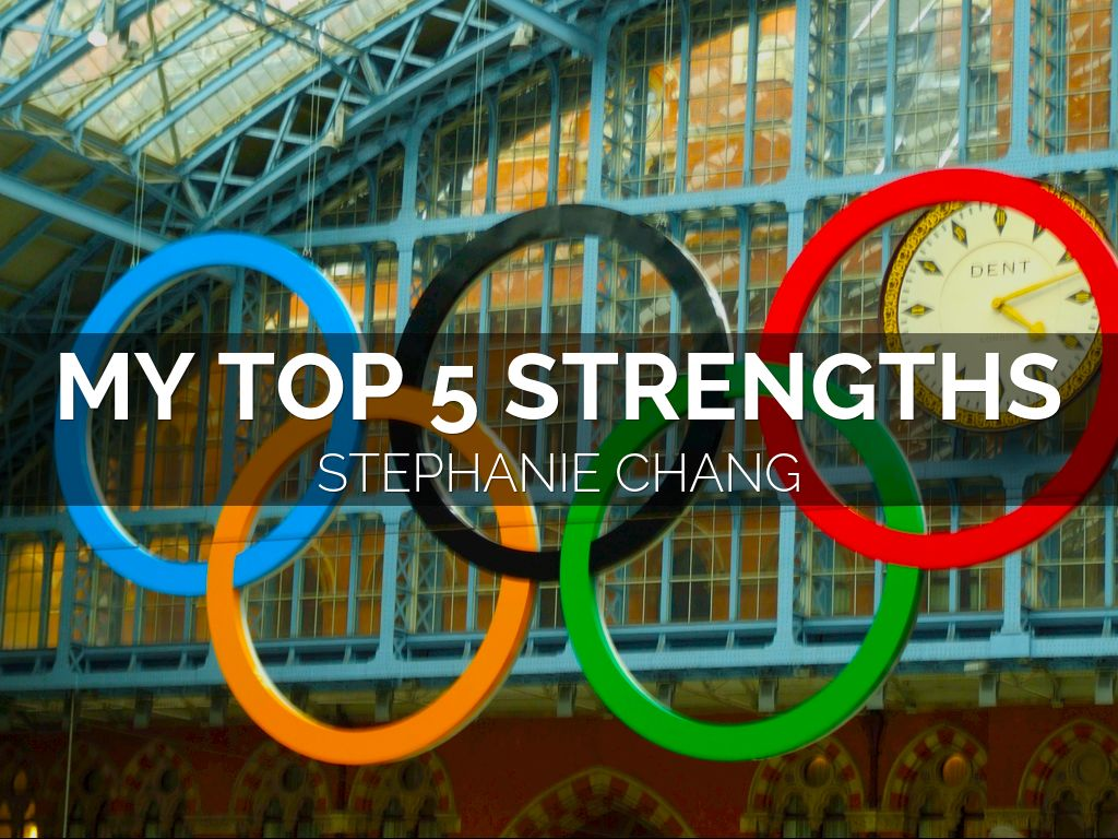 my top 5 strengths by stephanie chang
