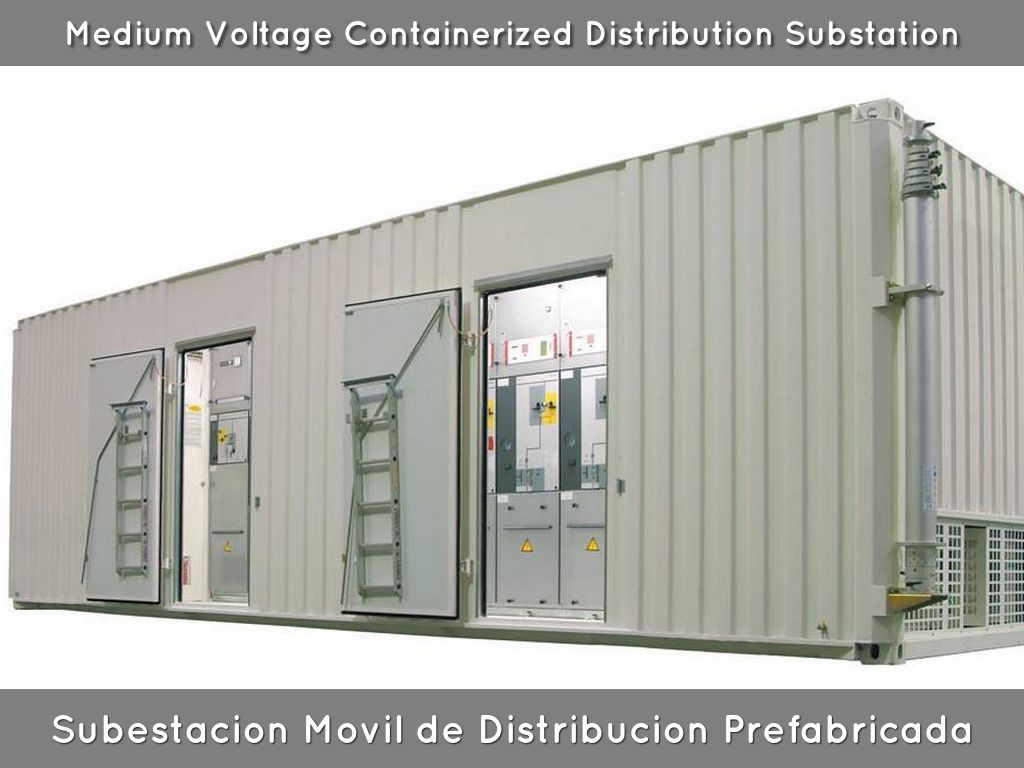 Subestacion movil de distribucion mobile distribution for E house