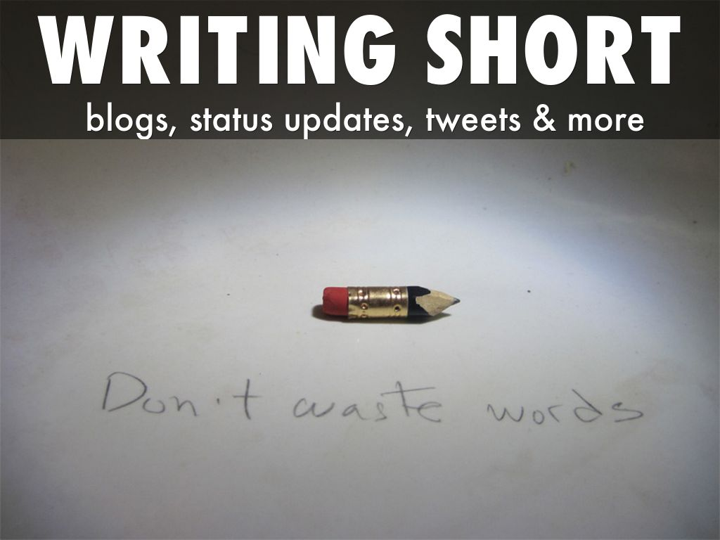 how to write a short presentation