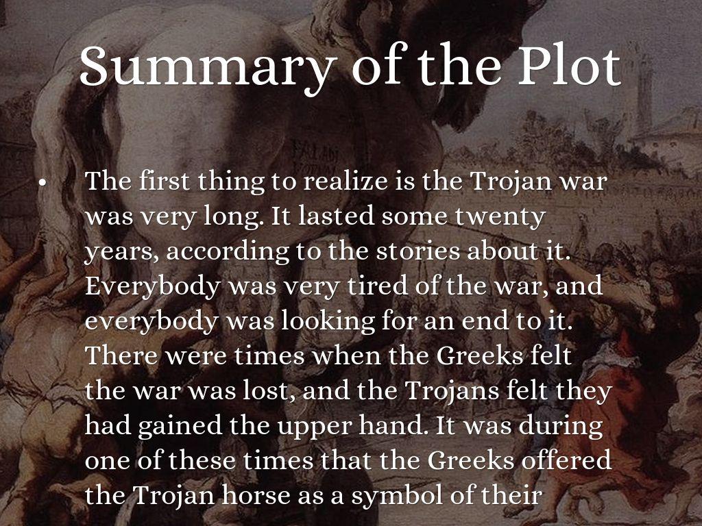 summary of troy trojan war