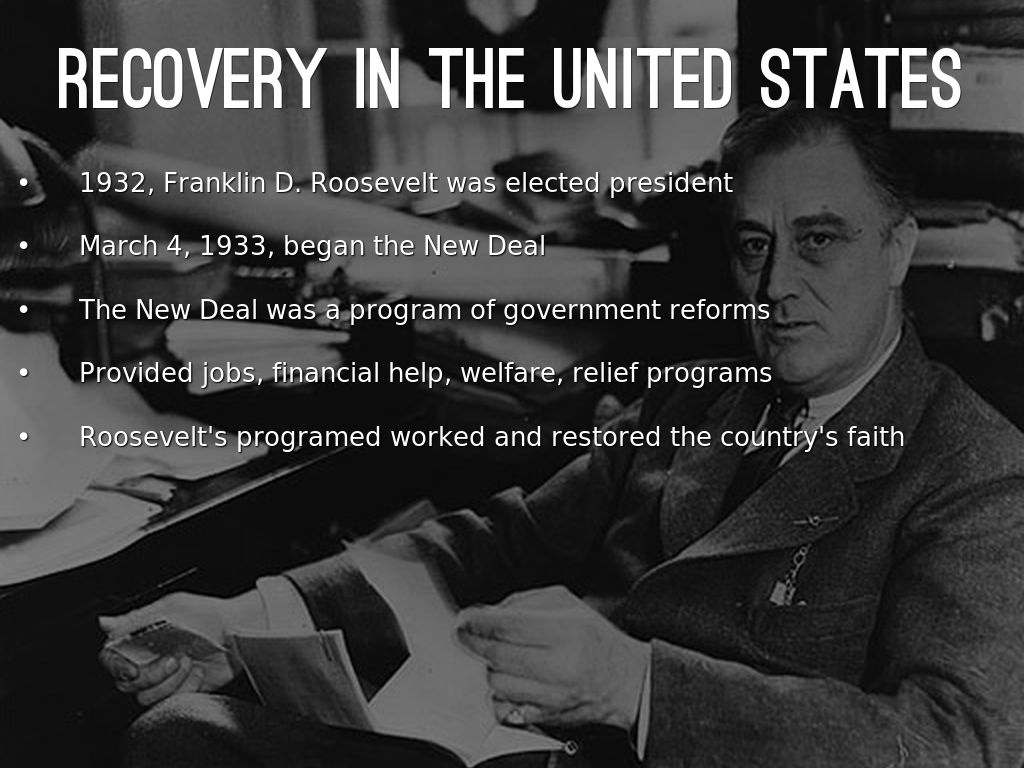 a discussion of franklin roosevelts program depicted in the new deal Jim powell joins us for a discussion on the new deal policies of franklin d roosevelt did the new deal really pull america out of the great depression.