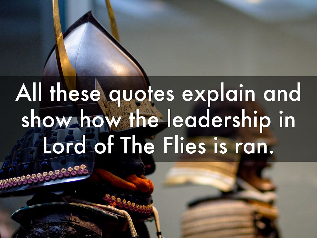 ralphs leaderhsip in lord of the In lord of the flies, when a group of young boys are stranded on an island and left their own devices, a leader must be chosen what separates a good leader is someone who cares for the greater good of the group and their well being rather than just ca.