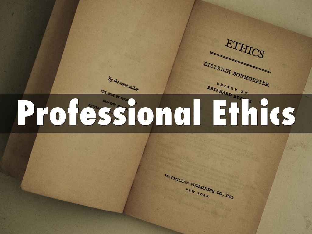professional ethics by freborg