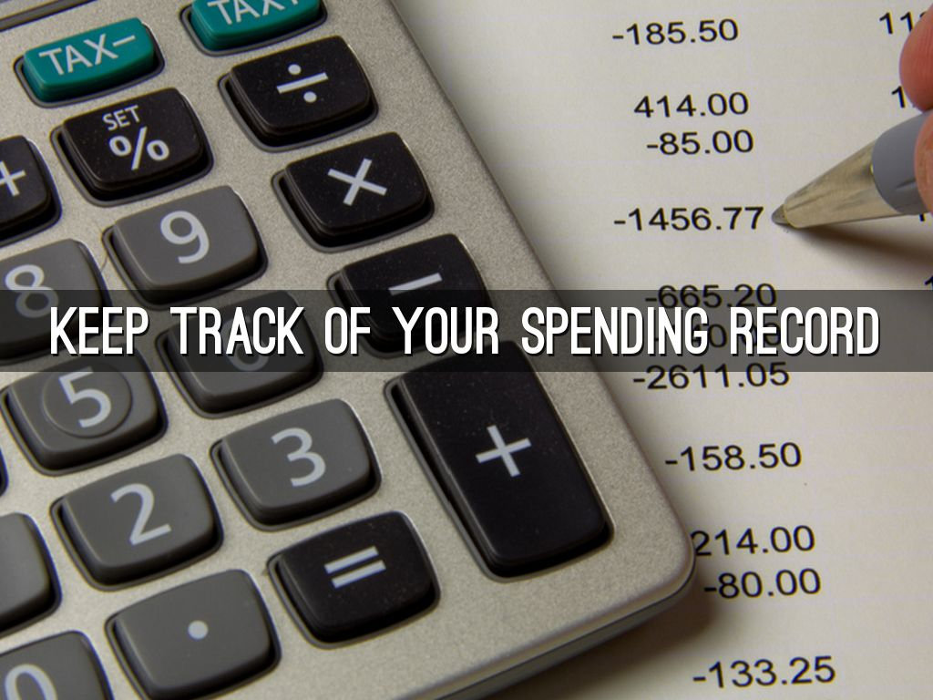 keeping track of your money