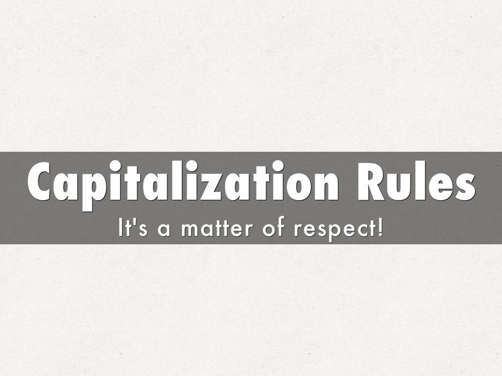 Capitalization Rules by Tammy Broadhead
