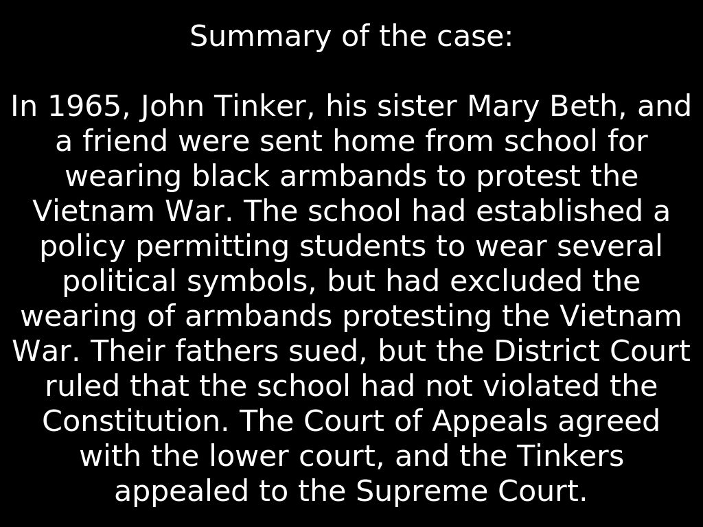 Tinker v. Des Moines Podcast