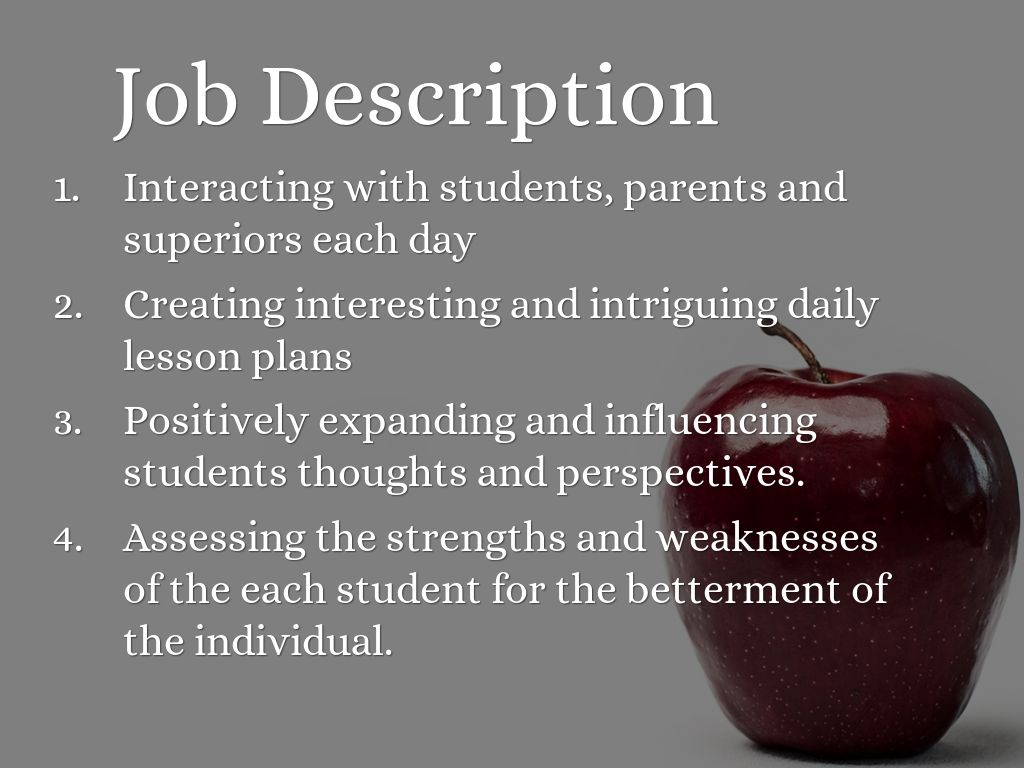 elementary teacher job descriptions