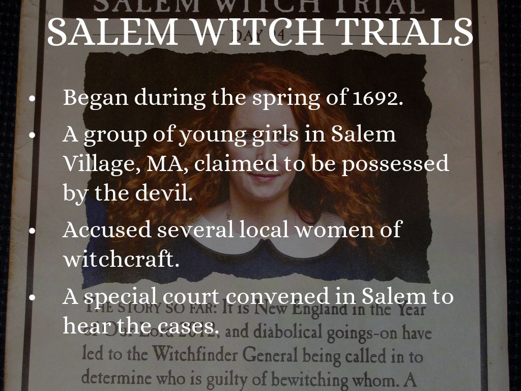 an analysis of the devil being in salem village