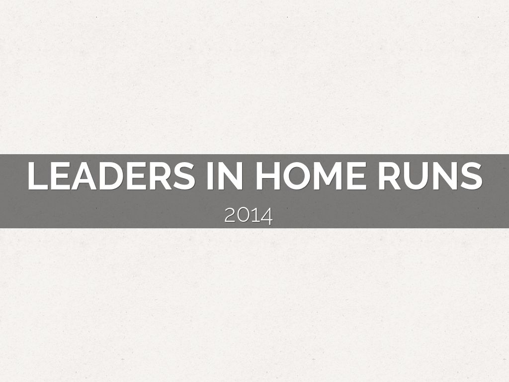 leaders in home runs