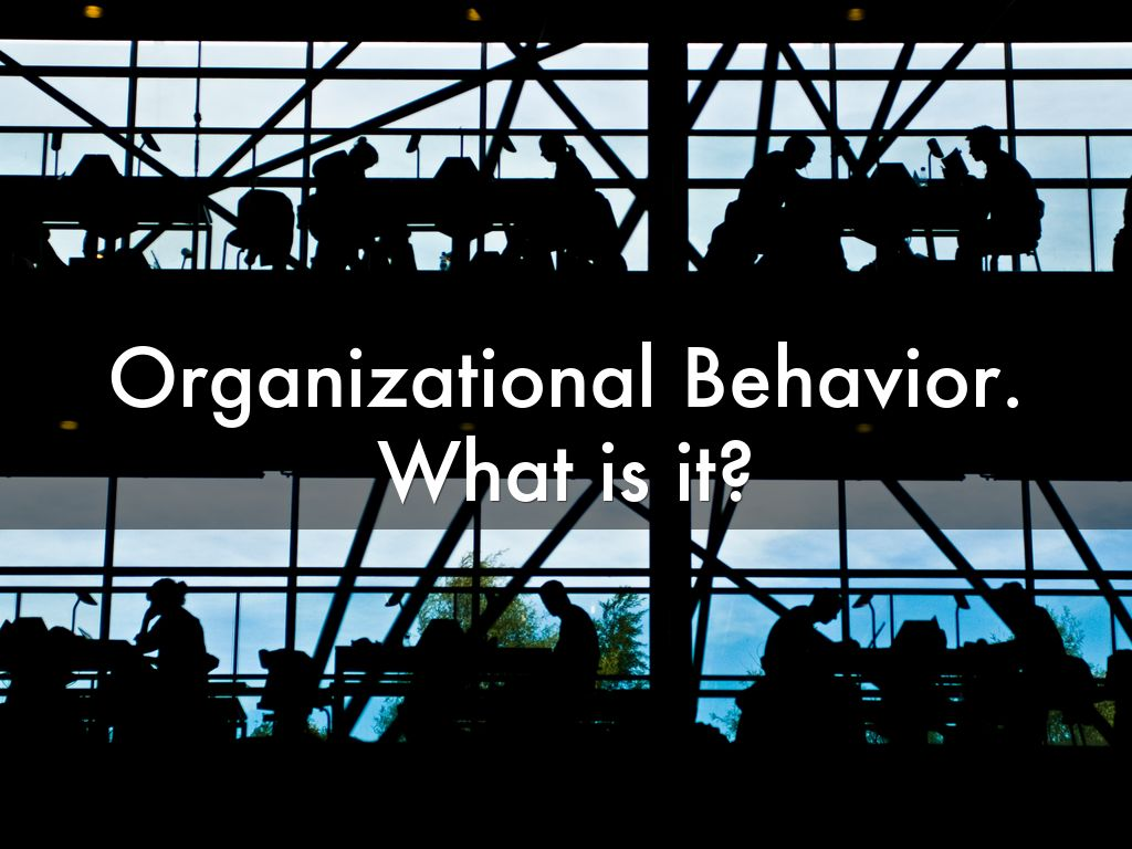 organisations and behaviour - organizational behavior terminology and concepts organizational behavior is the behavior of individuals, either one or a group it is not the behavior of an organization, but rather the behavior of the people in an organization.