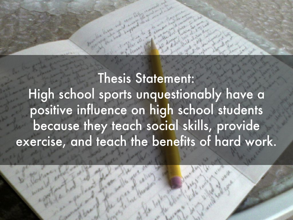 high school thesis statements